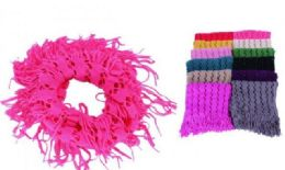 60 of Women's Fringe Winter Infinity Scarf