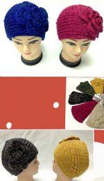 96 of Knit Flower Wide Headband