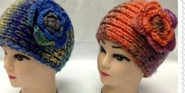 96 of Cable Knit Flower Wide Ear Warmer