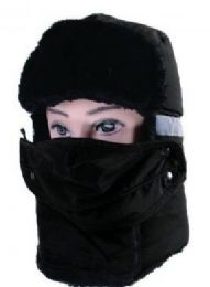 36 of Men Winter Hat With Mask In Black