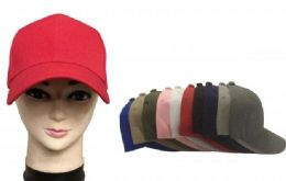 120 of Baseball Cap Plain Blank Solid Color In Pink