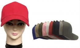 120 of Baseball Cap Plain Blank Solid Color Red