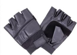 144 of Mens Leather Half Finger Glove