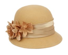 12 of Ladies Wool Felt Hat With Flower And Velvet Band