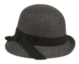 12 of Ladies Poly Wool Cloche Hat With Grosgrain Band