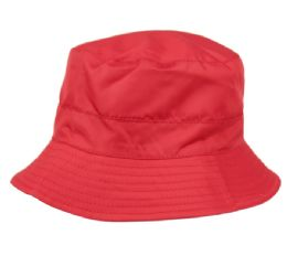 12 of Ladies Waterproof Packable Rain Bucket Hat With Zipper Closure In Burgandy