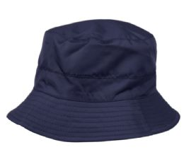 12 of Ladies Waterproof Packable Rain Bucket Hat With Zipper Closure In Navy
