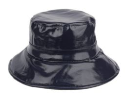 12 of Faux Leather Water Resistant Rain Bucket Hat
