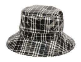 12 of Faux Leather Plaid All Weather Bucket Hat