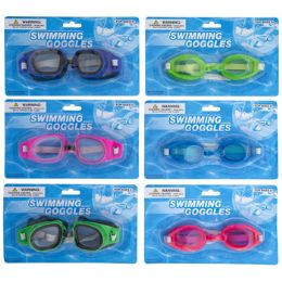 48 of Swimming Goggles 2 Styles Assorted Colors