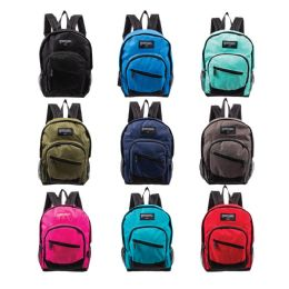 """24 of 13"""" Kids Wholesale Backpacks in 9 Assorted Colors"""
