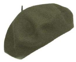 12 of Unisex Classic French Wool Beret In Olive