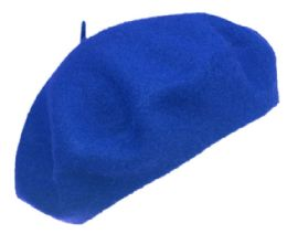 12 of Unisex Classic French Wool Beret In Royal