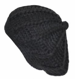 24 of Classic Hand Made Chunky Yarn Knit Beret