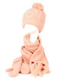 12 of Knit Beanie With Pom Pom And Scarf Mittens Sets