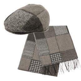 12 of Wool Blend Ivy Cap With Scarf Sets