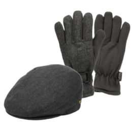 12 of Wool Blend Ivy Cap With Glove Set
