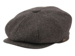 12 of Solid Color Melton Wool Newsboy Cap And Scarf Set Satin Lining