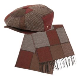 12 of Newsboy Cap And Scarf Set