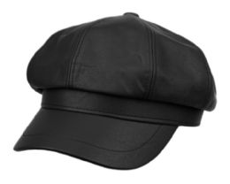 12 of Faux Leather Green Fisherman Hat In Black
