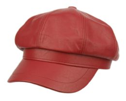 12 of Faux Leather Green Fisherman Hat In Red
