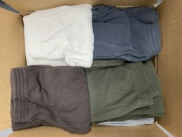 24 of Mens Assorted Colors And Sizes Polar Fleece Joggers With Side Pockets