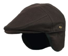 12 of Melton Wool Flat Ivy Caps With Earmuff In Brown