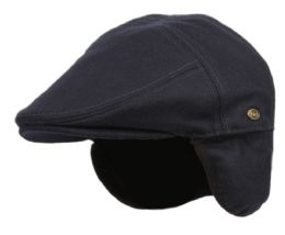 12 of Melton Wool Flat Ivy Caps With Earmuff In Navy