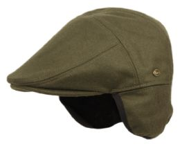 12 of Melton Wool Flat Ivy Caps With Earmuff In Olive