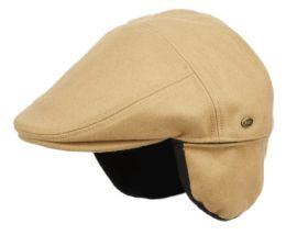 12 of Melton Wool Flat Ivy Caps With Earmuff In Tan