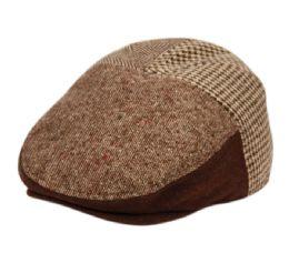 12 of Herringbone Houndstooth Wool Ivy Cap With Fleece Earlap And Lining In Brown