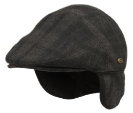 12 of Plaid Wool Ivy Cap With Fleece Earflap And Lining In Brown