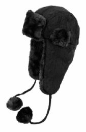 12 of Winter Faux Fur Knit Trapper Hat With Chin Cod And Pom Pom