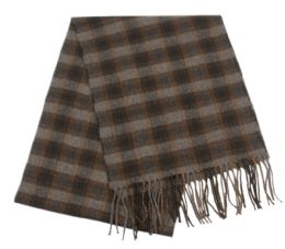 24 of Mens Winter Plaid Scarf In Brown