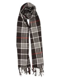 24 of Plaid Soft Cashmere Feel Scarf in Black