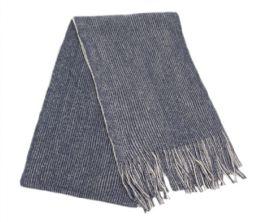 12 of Mens Winter Knit Denim Scarf In Blue