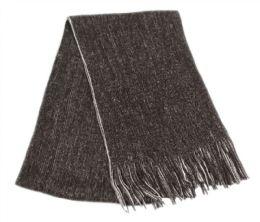 12 of Mens Winter Knit Denim Scarf In Black
