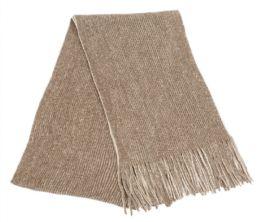 12 of Mens Winter Knit Denim Scarf In Brown