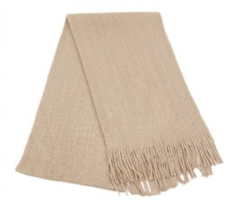 18 of Mens Winter Solid Knit Scarf In Khaki