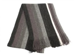 18 of Mens Winter Knit Stripe Scarf In Black