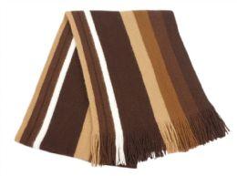 18 of Mens Winter Knit Stripe Scarf In Brown