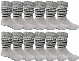 12 of Yacht & Smith Men's Cotton Extra Heavy Slouch Socks, Boot Sock