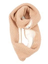 12 of Ladies Wool Blend Knit Infinity Scarf With Sherpa Lining