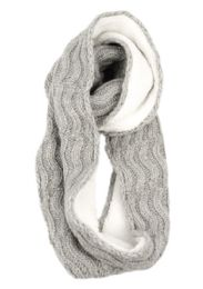 12 of Wool Blend Cable Knit Infinity Scarf With Sherpa Lining
