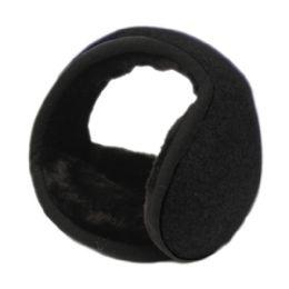 18 of Winter Ear Warmer With Faux Fur Lining In Black