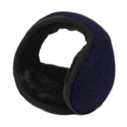 18 of Winter Ear Warmer With Faux Fur Lining In Navy