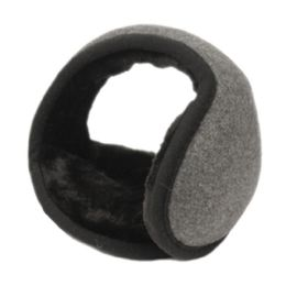 18 of Winter Ear Warmer With Faux Fur Lining In Charcoal