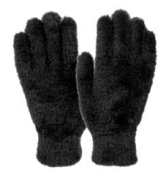 12 of Ladies Soft Fur Winter Glove In Black