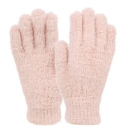 12 of Ladies Soft Fur Winter Glove In Assorted Color