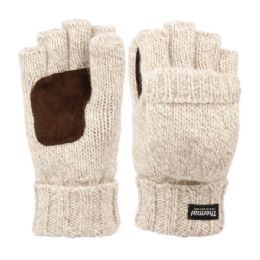 12 of Half Finger Wool Knit Gloves With Finger Cover And Palm Patch